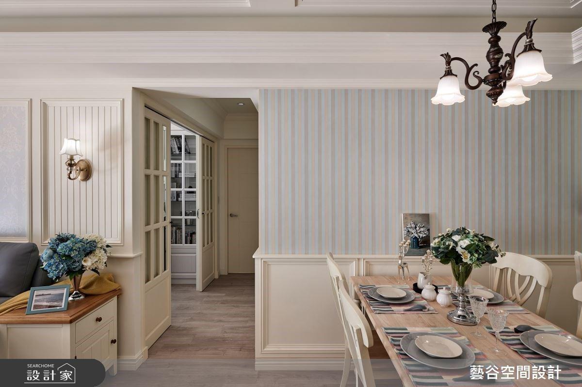 經典美式鄉村小公寓!用紅磚牆、百葉窗描繪小家庭的甜蜜情境
