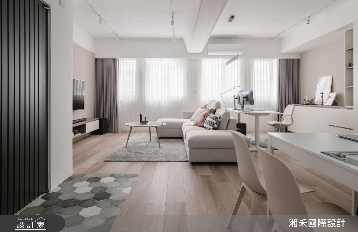 粉嫩色系、湖水綠的輕柔相遇!26 坪老屋翻新成清新質感北歐宅