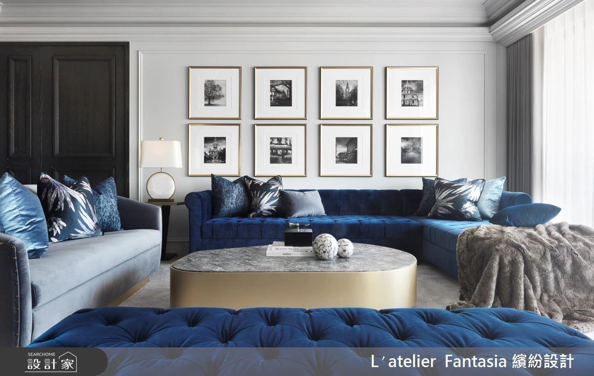 用皇室藍安家,精緻細節展現空間的美與尺度