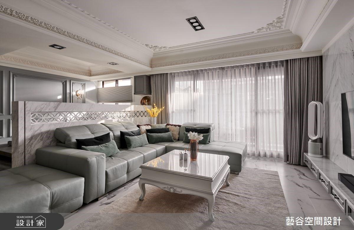 玄關吧台美到不可思議!新古典風 48 坪居家,如豪宅般的細膩奢華品味