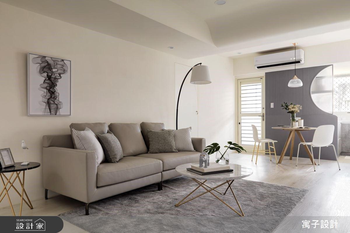 每間臥房牆面都有莫蘭迪色系!以「月」為靈感的 38 坪暖漾月光之家