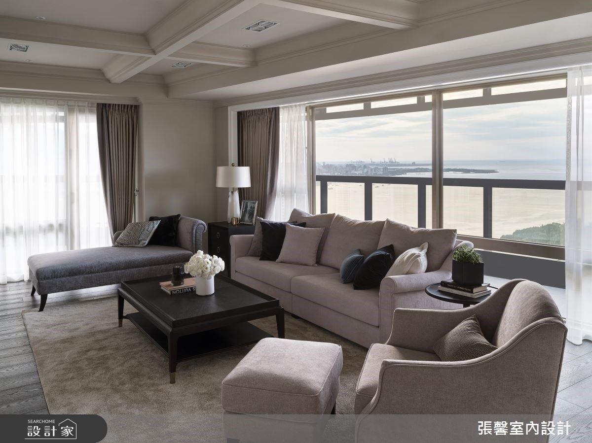 俯瞰窗外海景!46 坪大地色系經典美式宅,感受優雅雍容的生活品味