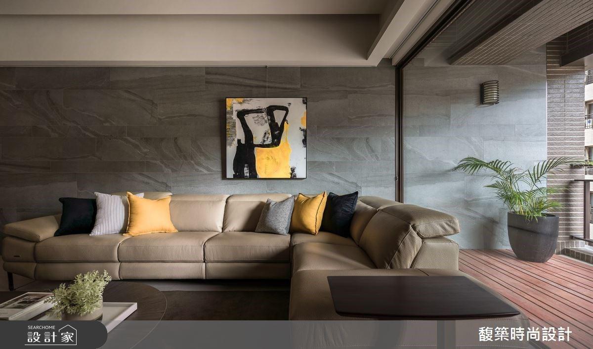 解放陽台與客廳的鴻溝!流轉現代風豪宅的自然韻律