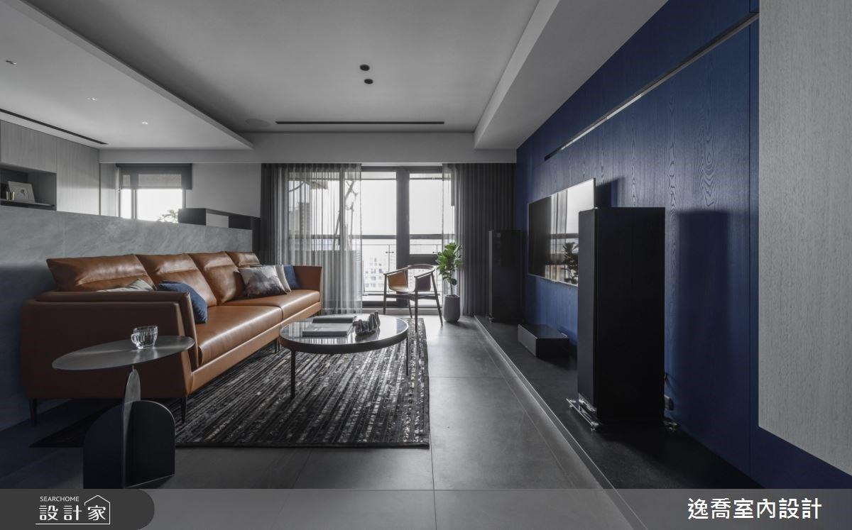 卡布奇諾與藍調的色彩奇遇!打造 35 坪現代風典藏居家