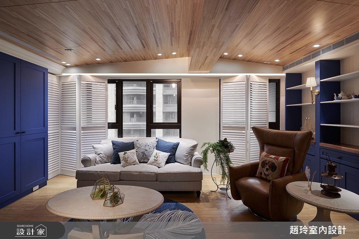 將屋中大樑化為優勢!暖光 + 木質感打造 45 坪夢幻木屋家園
