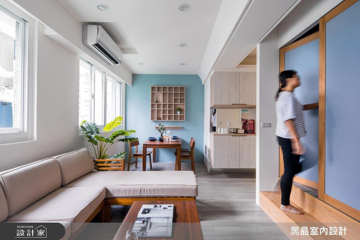 用「顏色」解救單調白牆!挹注日系質感讓 21 坪老屋翻新「唯美輕甜系」居家