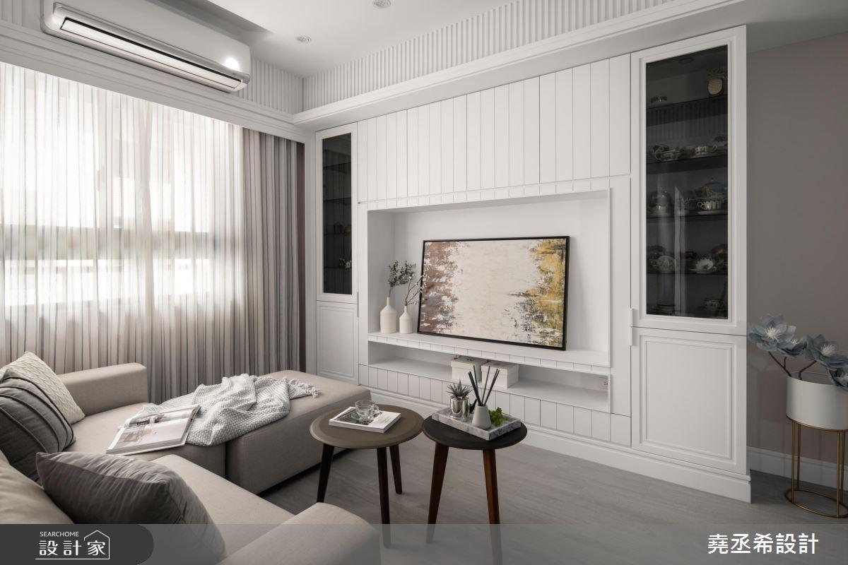 超美大理石 + 白鐵件中島廚房!讓姐妹倆怦然心動的 20 坪新古典小公寓