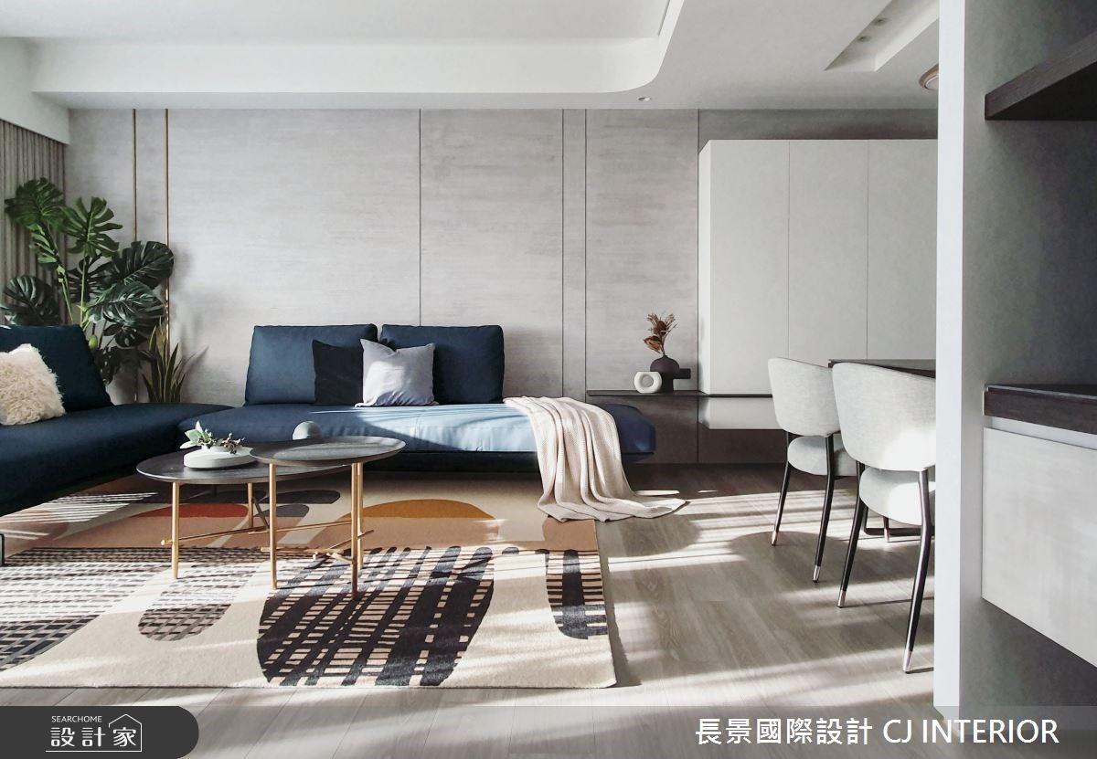 休閒風打造輕暖空間感!泛著藍色微笑的三代同堂大宅