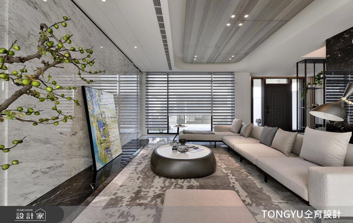 90 坪療癒系高端豪宅!大理石紋與綠意優雅交織,打造低調奢華品味