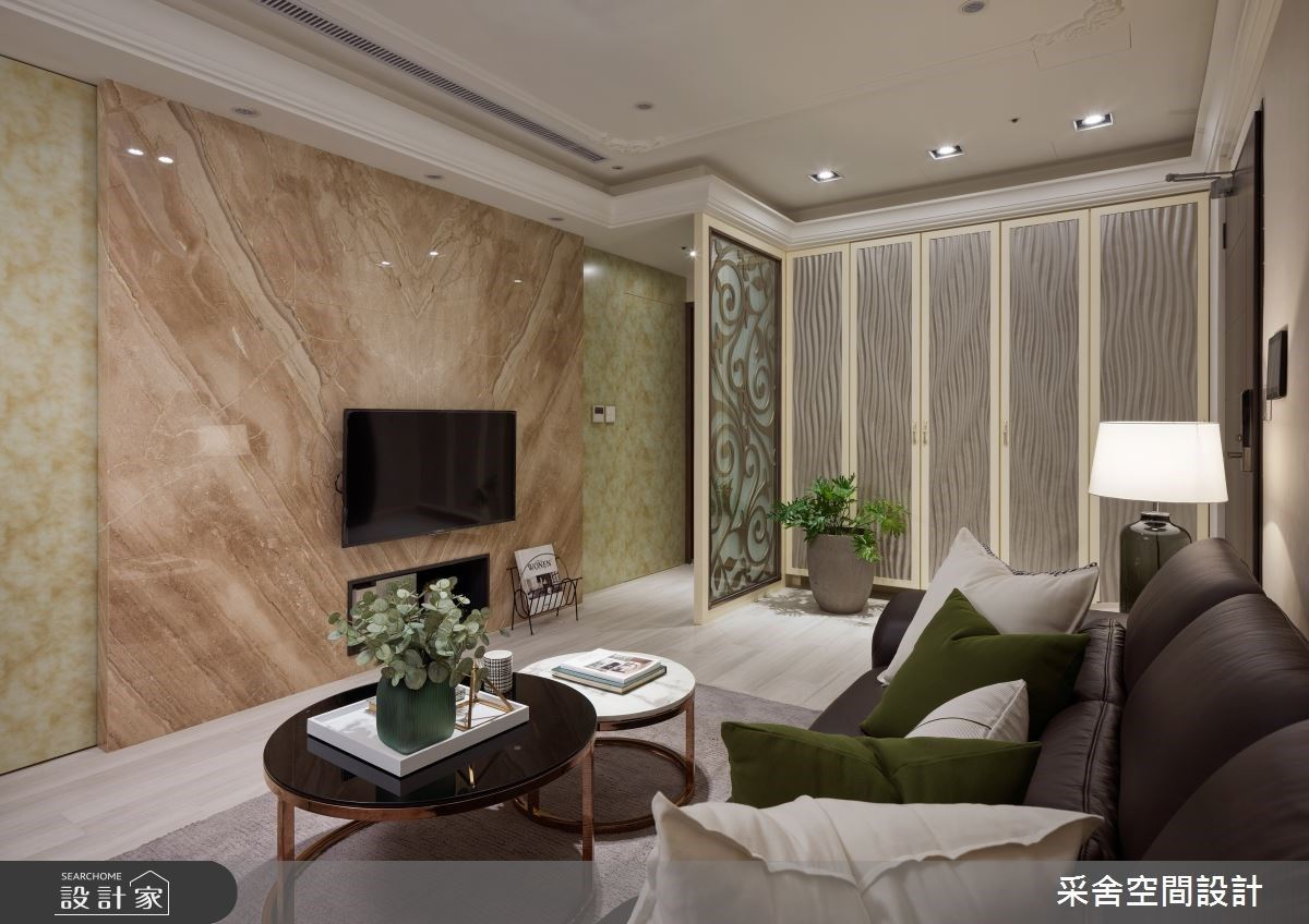 18 坪女子單身公寓!絕美雕花、大理石的優雅新古典風,當然不能少了寵愛自己的更衣室