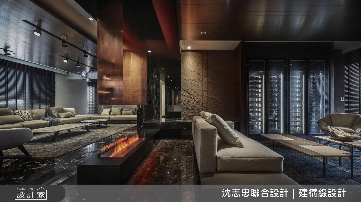 在台灣找回「國外故鄉」的寬敞舒適,75 坪高端 Lounge 質感豪宅設計