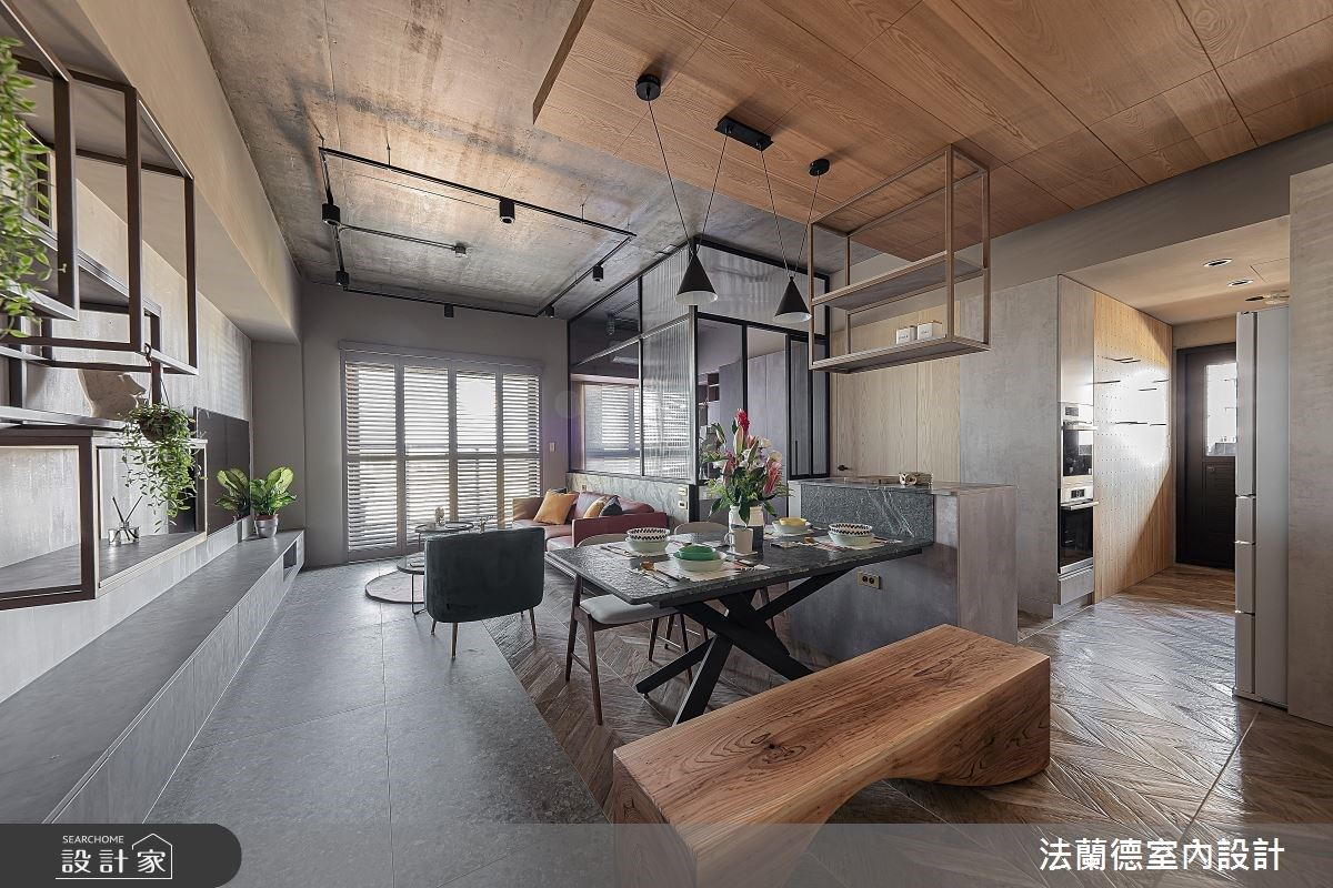 現代風混搭工業鐵件,創造精緻衝突美感宅邸