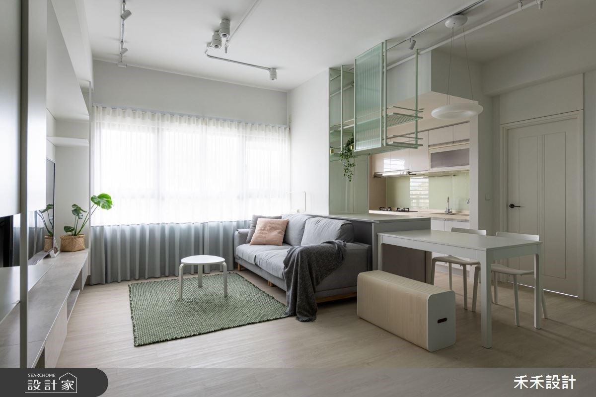 和你和日光膩在一處!系統櫃、莫蘭迪綠給你超越 15 坪的清新質感