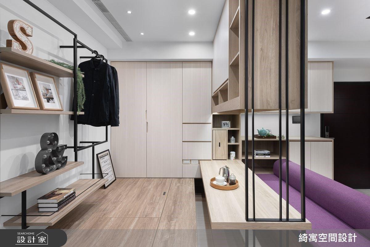 一日衣櫃、神級收納的好歸宿!9.5 坪的現代風單身女子公寓