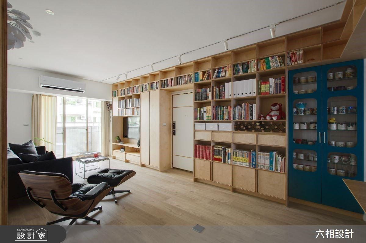 我家客廳就是圖書館!木質調書牆的無限量收納