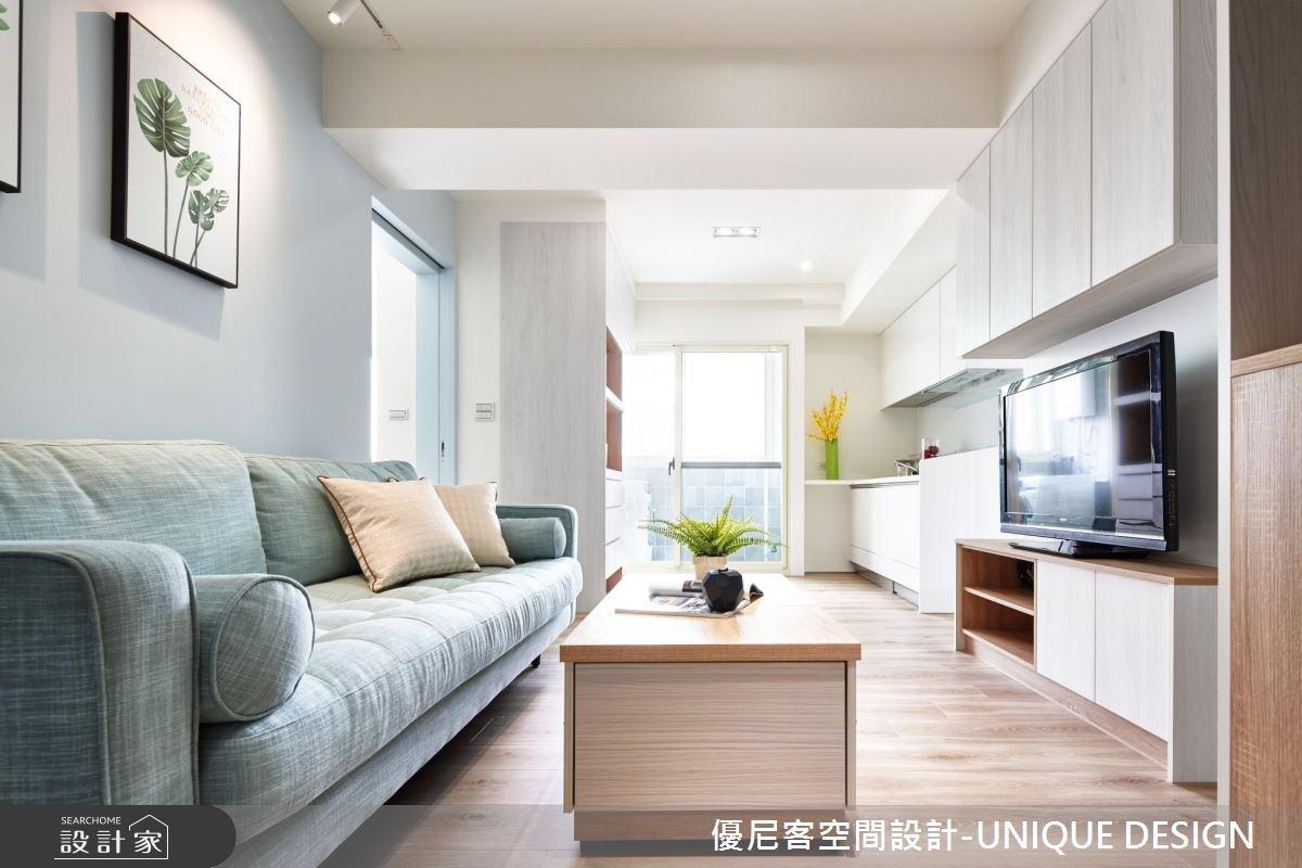 隱藏式床鋪、彈性收納桌解放格局! 17 坪北歐風中古公寓再多添一廳一衛