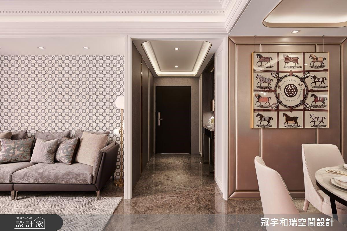 讓經典化為永恆!用圖騰與金色細節,成就 70 坪歐美豪宅的雋永微奢時尚感