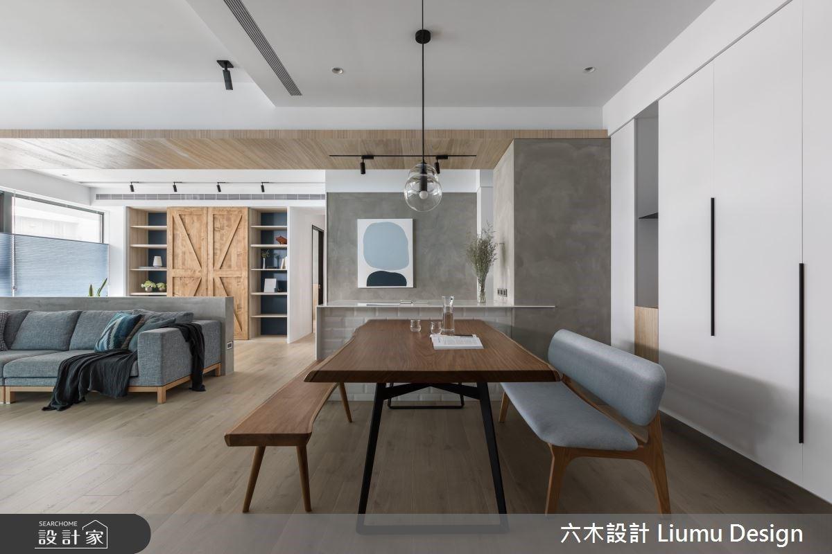 無限光感北歐宅!超寬廣客廳 + 海量收納,搭配一抹經典藍勾勒療癒家居