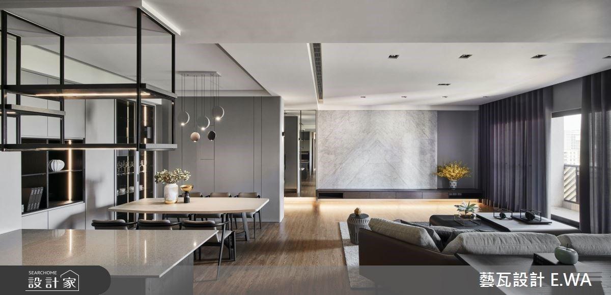 在大房間一夜好眠、私人酒吧小酌放鬆!90 坪現代風輕豪宅裡的五星美好人生