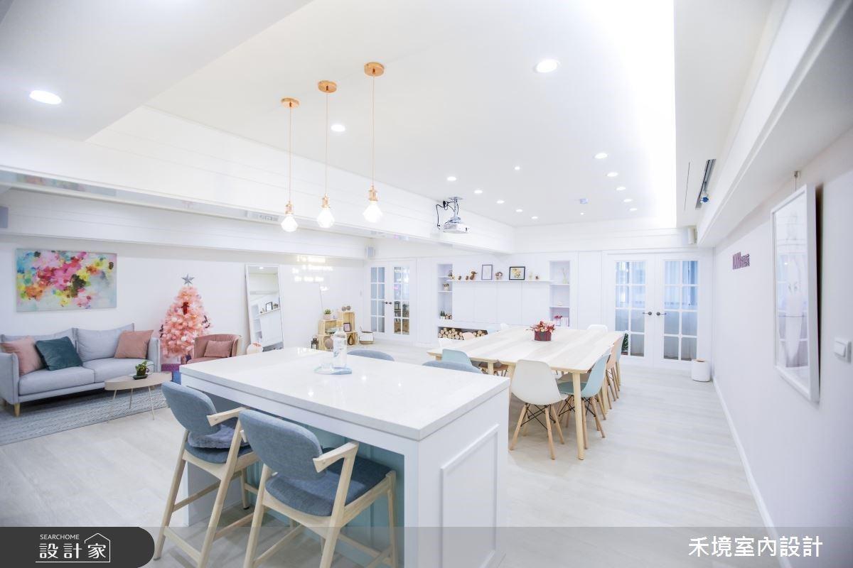 商業空間也像家一樣舒適!粉彩馬卡龍打造空間新妝容