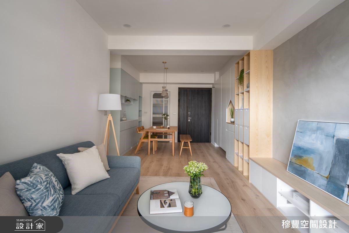 小坪數也能擁有三房兩廳!23 坪療癒系北歐宅,收納機能做好做滿