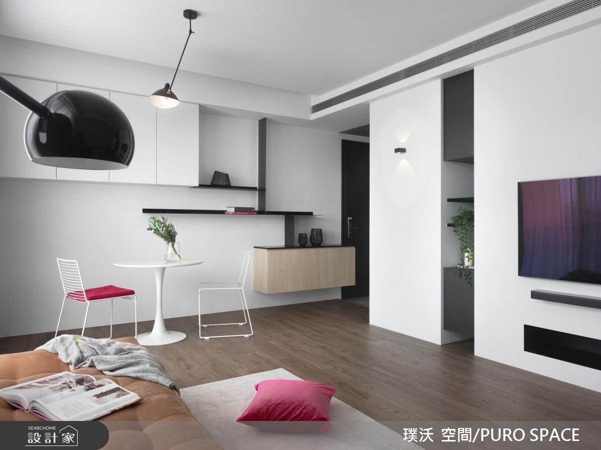 兩人的小坪數優雅生活,15 坪極簡風住宅的暖白與冷灰