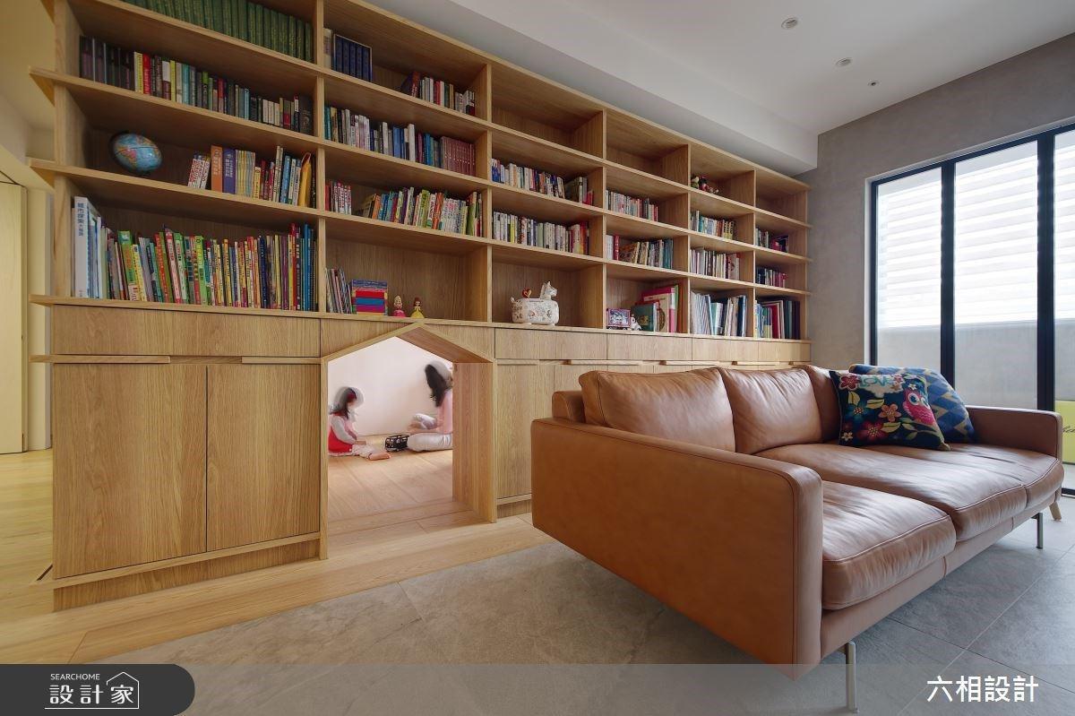 30 坪無印風混搭輕工業風,設計師用「這招」解決廚房油煙 & 風水問題,超大書櫃還內藏驚喜!