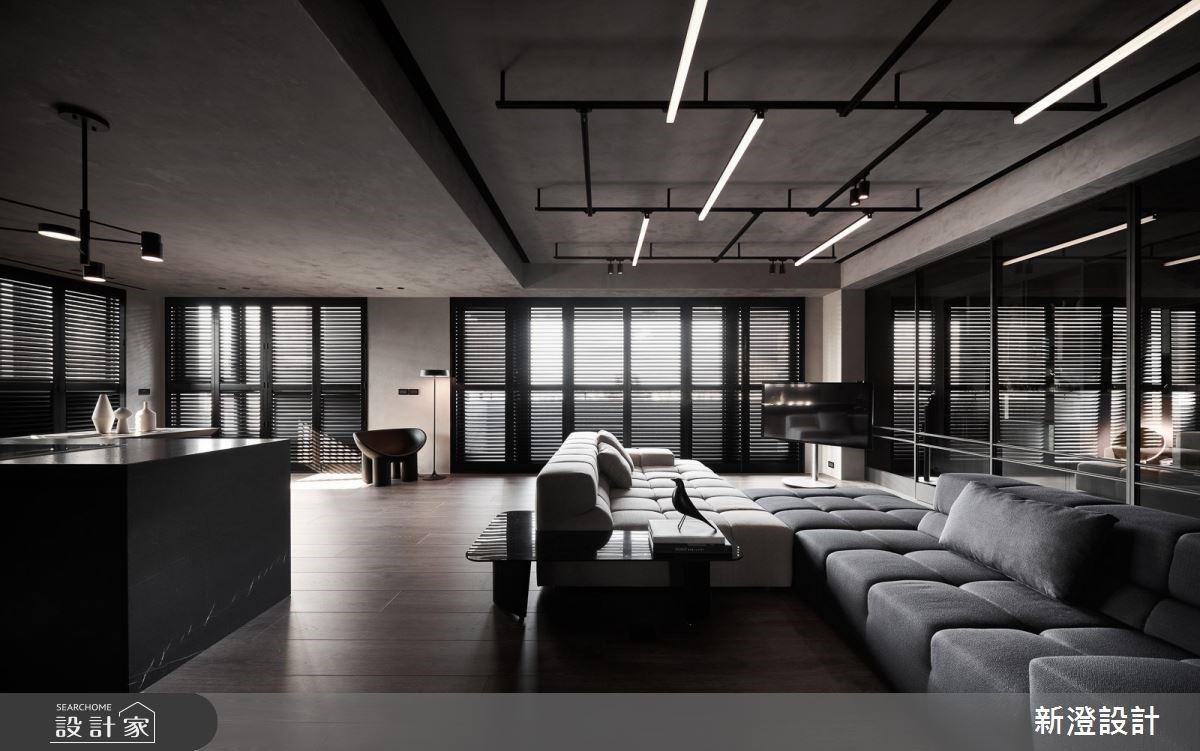 玩出百坪豪宅的時尚氣度!恣意穿梭 35 坪現代風開放式空間