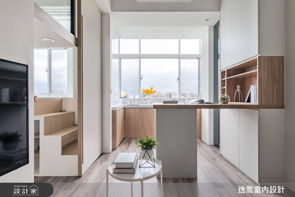 陽光普照的中島廚房、一見傾心的多用臥榻!15 坪老宅致單身業務的美好生活