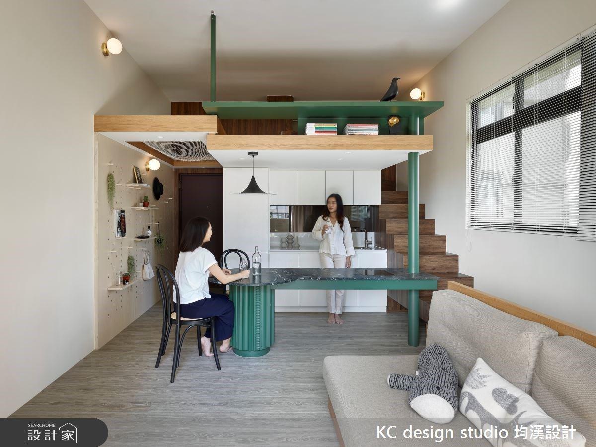 蛇紋石中島、網美風浴室盡在 12 坪!從生活習慣定義小坪數的多元格局