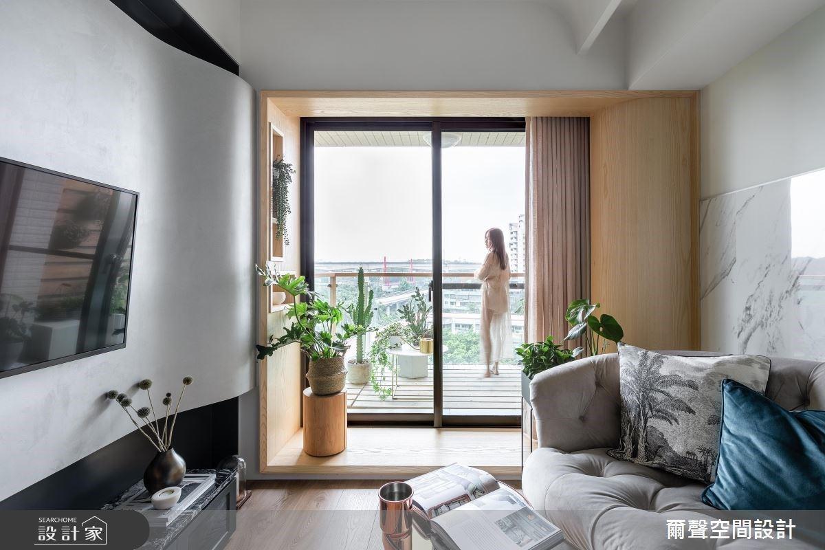 夾層設計把 18 坪小宅變三層公寓!單面採光狹長屋散發明亮層次美