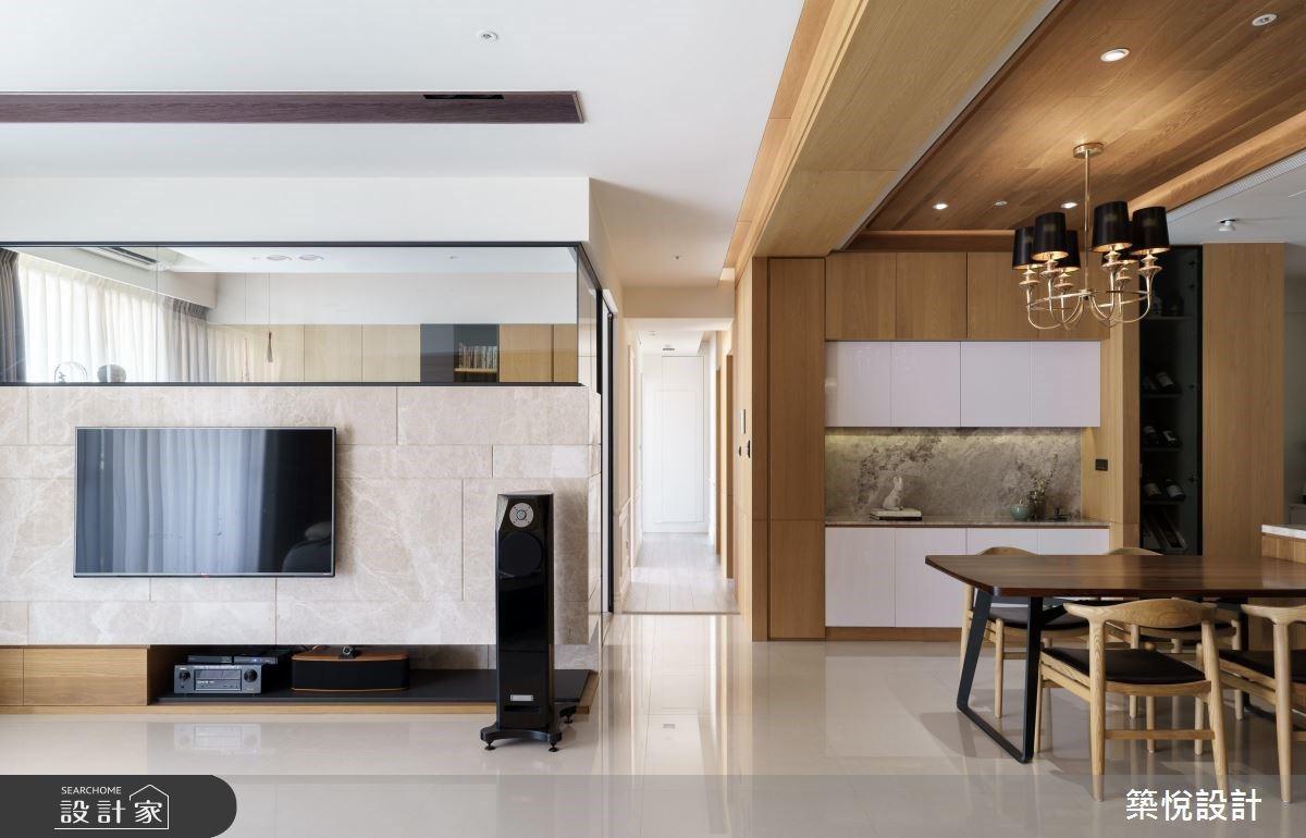 溫潤木質X玻璃屋書房X滿點收納 揉合東方人文與現代簡約私宅