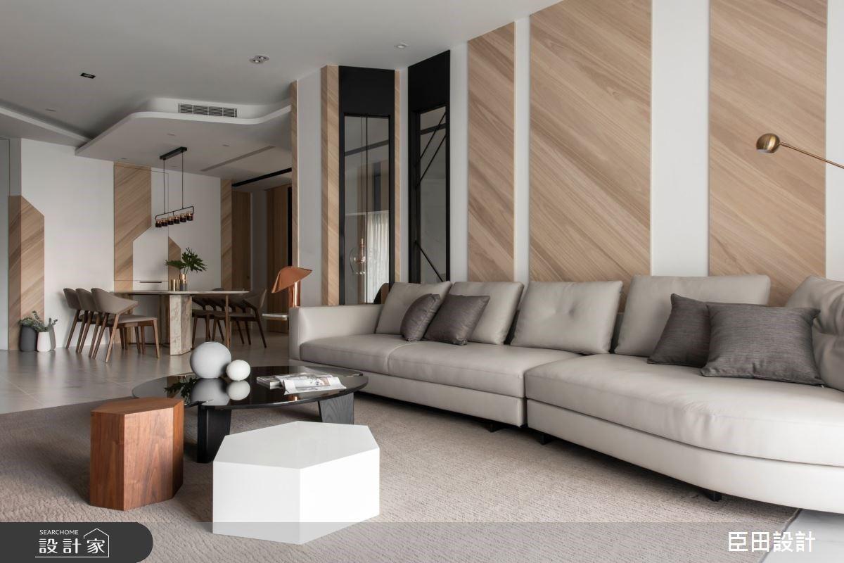 42 坪現代風的大器、北歐風的清新!白大理石紋與木質優雅調和,開啟一家四口的美好新生活