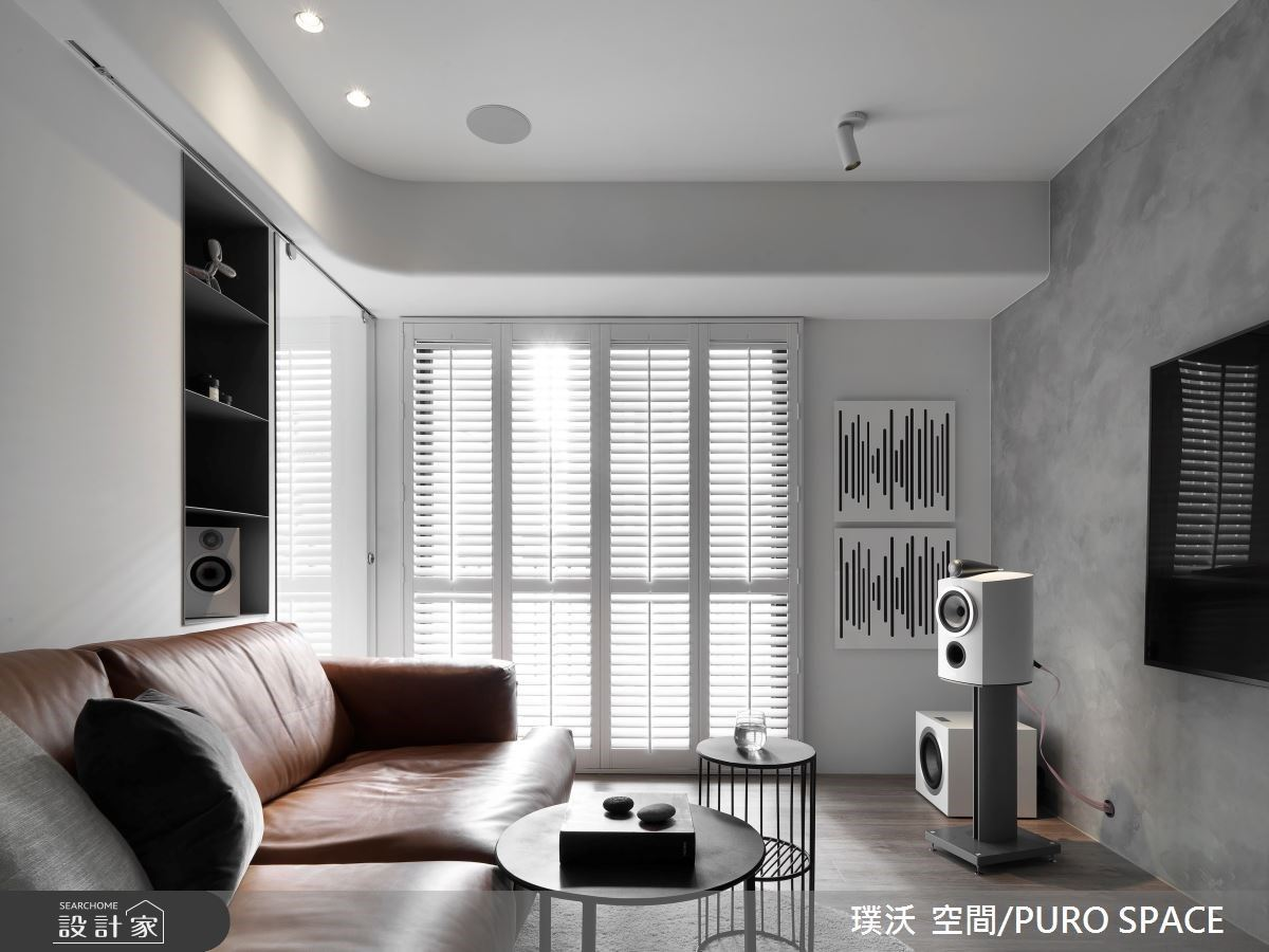 音響發燒友的新家,黑白灰 19 坪極簡風住宅,一次收藏自然採光與優美旋律