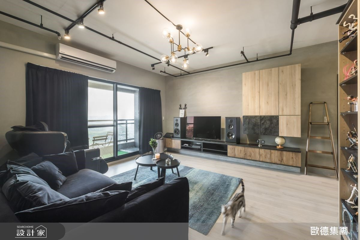 系統家具給模型與吉他一個完美收藏家!用興趣堆砌 26 坪工業風格宅