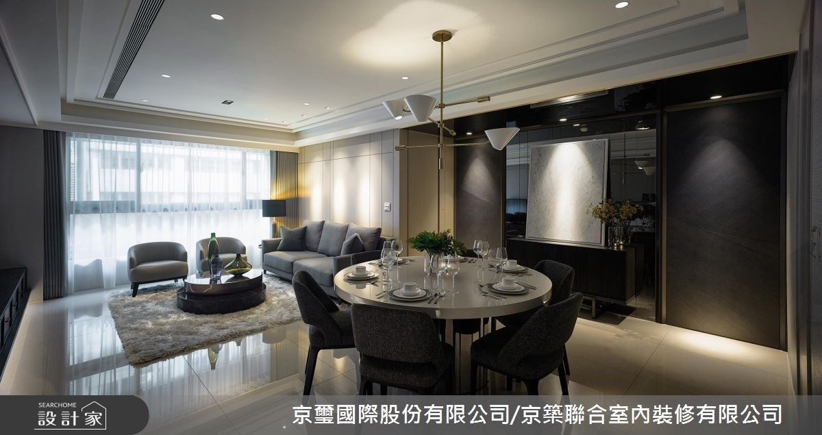 揉合雅緻材質與俐落線條 刻劃出別具風格的時尚豪宅