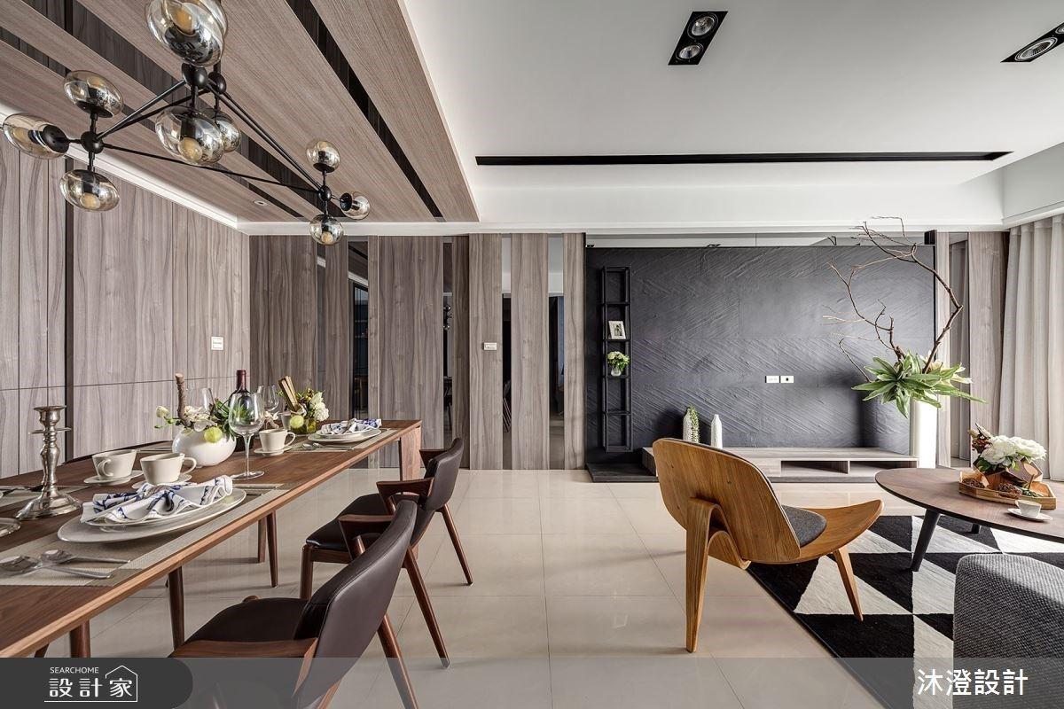 岩灰與天藍的絕妙搭配!開放式格局 + 透明系書房,52 坪現代宅帶來零距離的家人互動