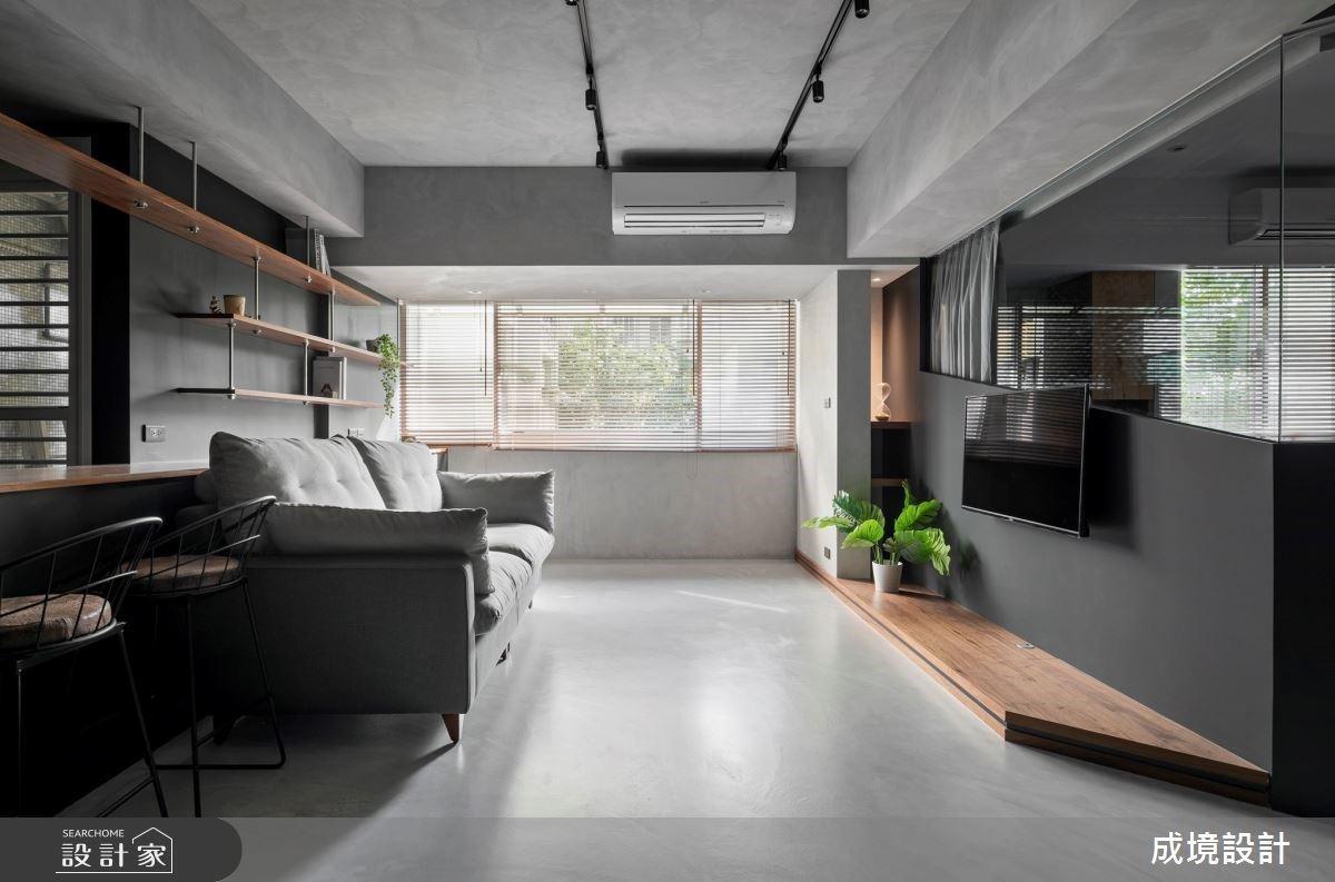 工業風襯托屋主雅痞氣質!16 坪老屋翻新變年輕夫妻的個性住宅