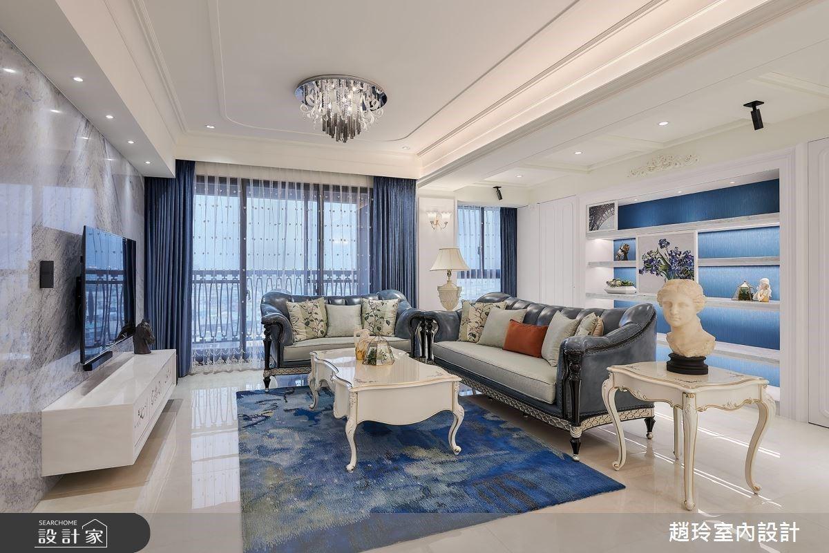 格局重塑化百坪住宅為蔚藍城堡!線板與大理石將新古典氣質鑲嵌於居家生活