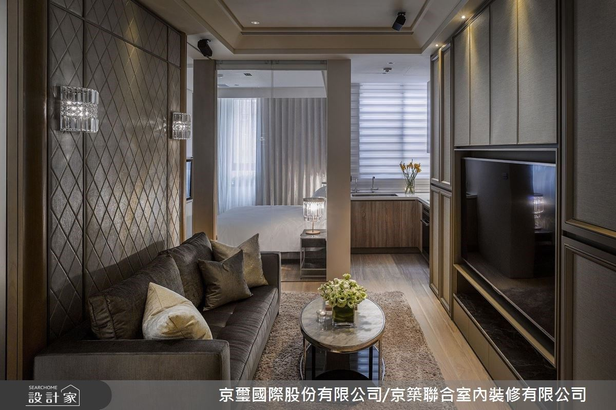 漫步 17 坪宅邸靜享上海奢華風情!開放式設計刻畫精品小宅內的遠中近景