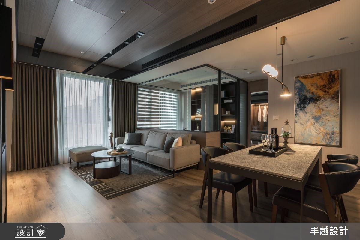透明書房讓客廳變大了?41 坪現代風雅居,以沉穩低彩度一展內斂情感