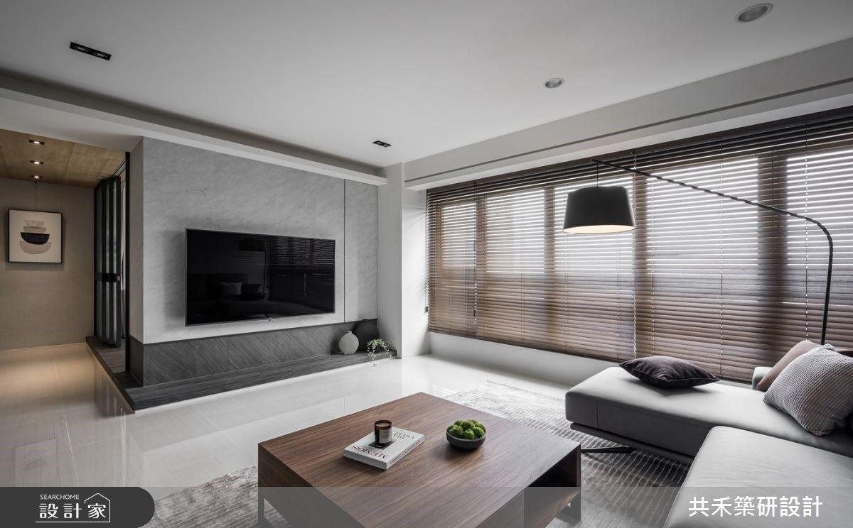 旅店風臥房X現代風客廳 觀雲引光的高樓層質感生活