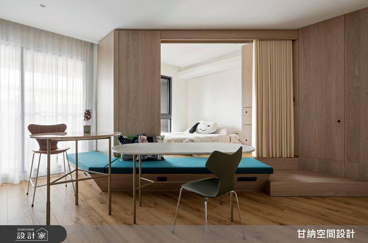 斜槓青年的 12 坪簡約生活!用移動式家具敘寫單身宅的日常作息