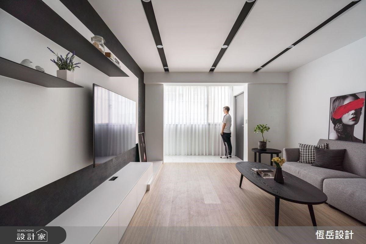 黑白框線把老屋變立體!讓屋主超滿意的簡約風退休宅