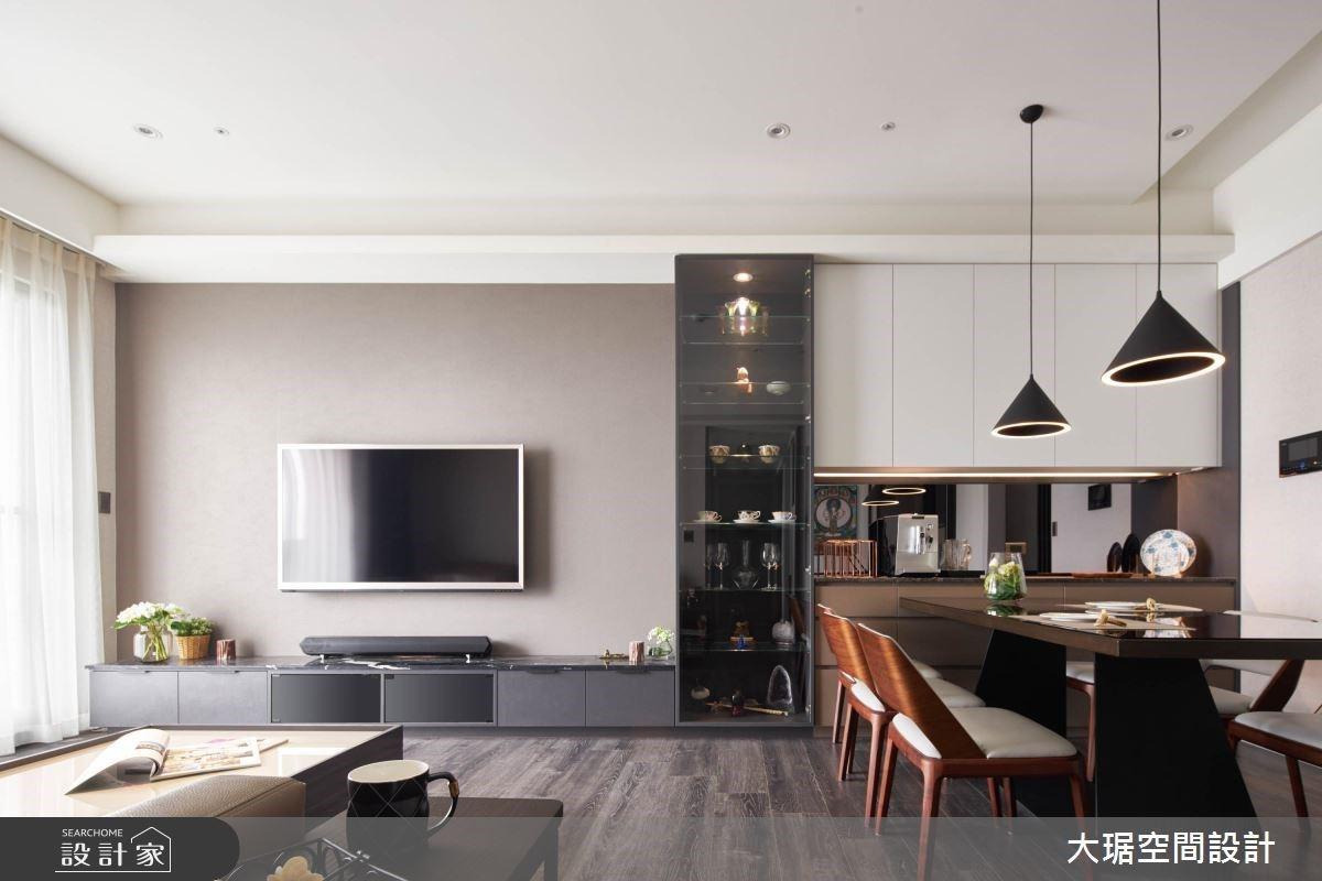 開放大空間X風格展示收納櫃 創造滿滿機能且充滿人文現代風私宅
