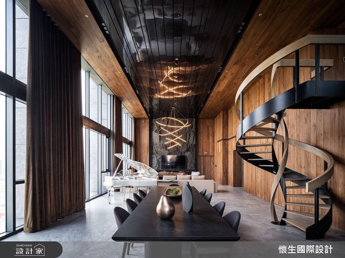 藝術旋轉梯串聯迎賓與渡假機能!千錘百鍊的人文奢華景觀豪宅設計