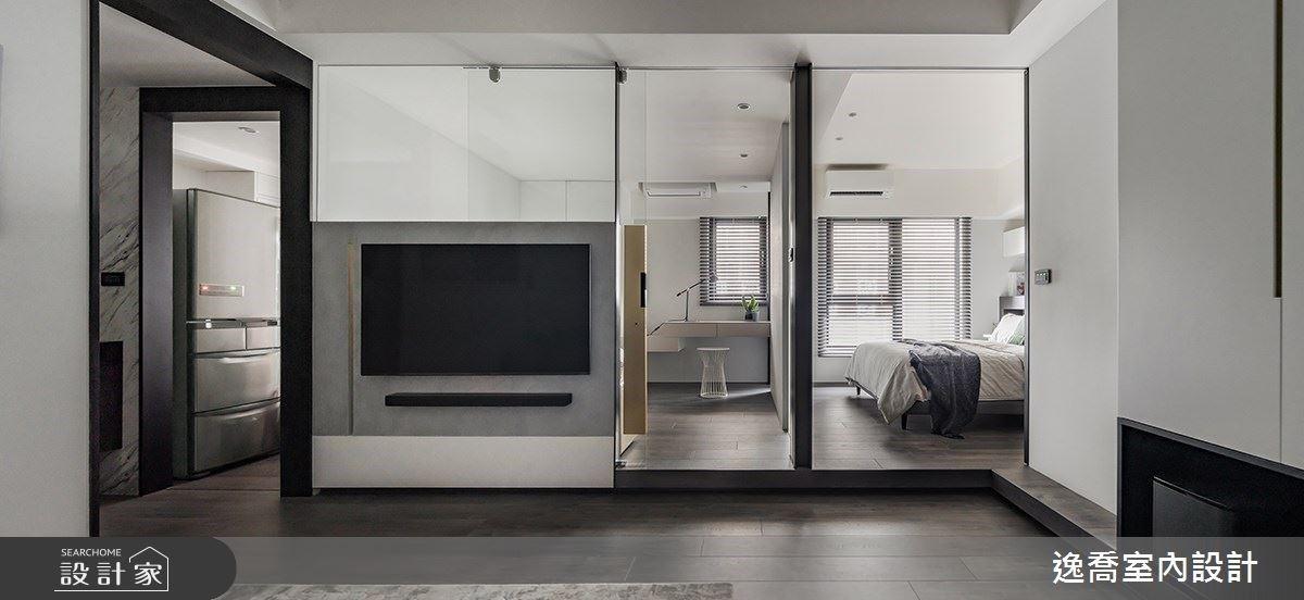 好,15 坪單身宅這樣剛好!用輕隔間客變出日光客廳、高收納更衣室