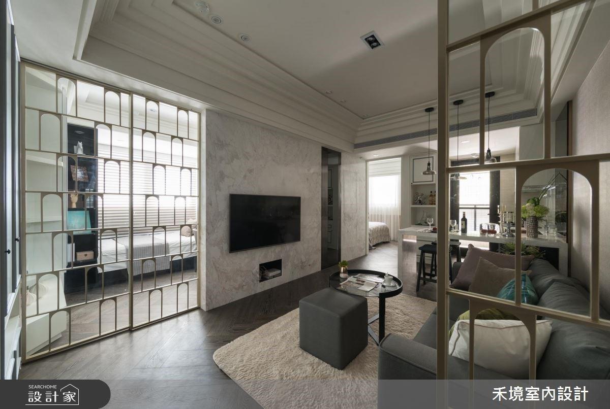是收納也是造型!一字型廚房X穿透彈性隔間,綻放機能型古典風美學私宅