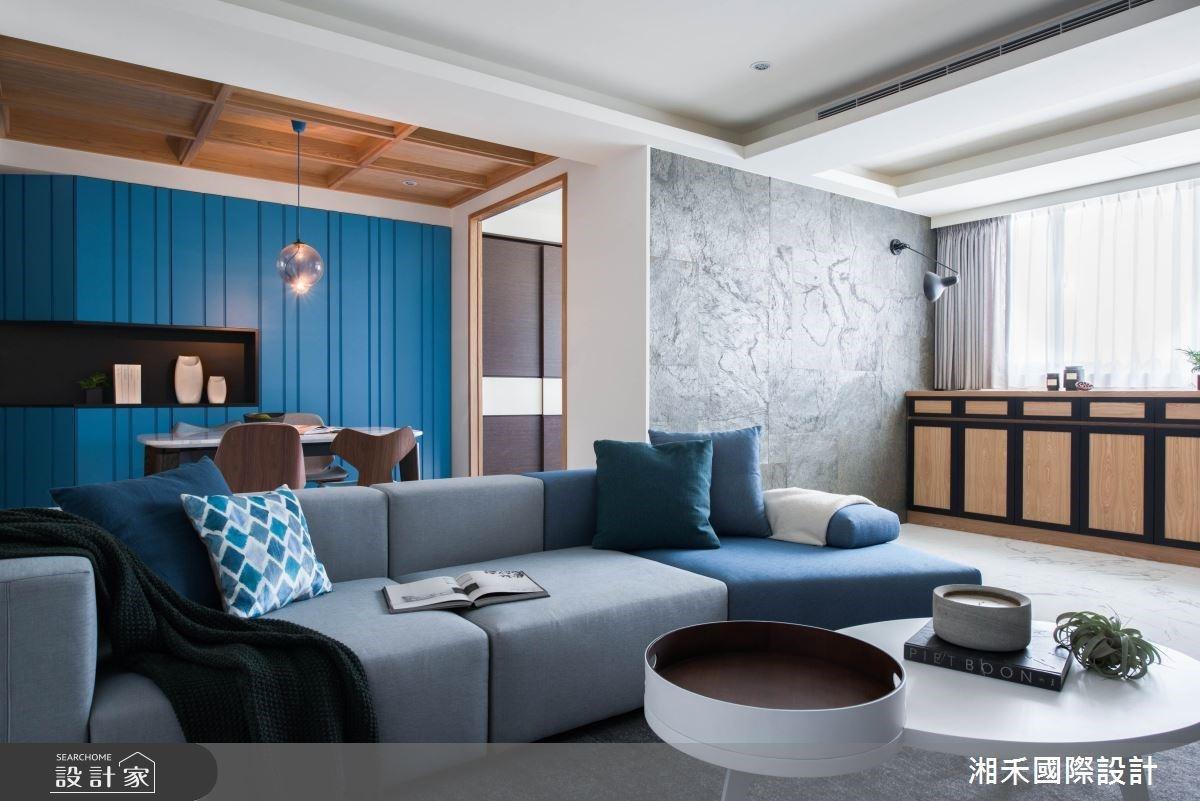 湛藍時尚經典現代風!邁向優雅生活的品味居所