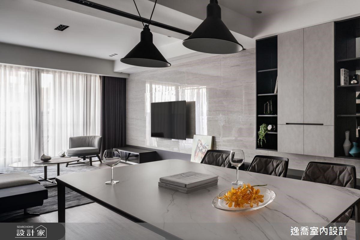 收納櫃是空間最精彩的表情!俐落清爽與開闊尺度的現代風單身宅